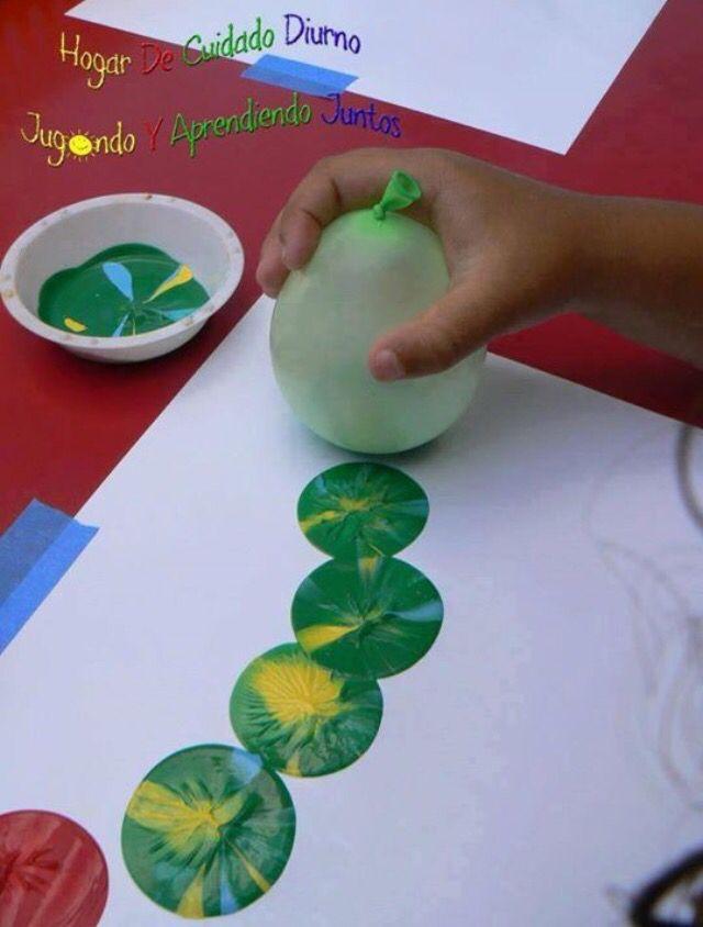 pintura com balões