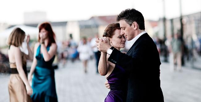 Hany Haday Bryndis Haldorsdottir teach tango in M2tango studio in Copenhagen