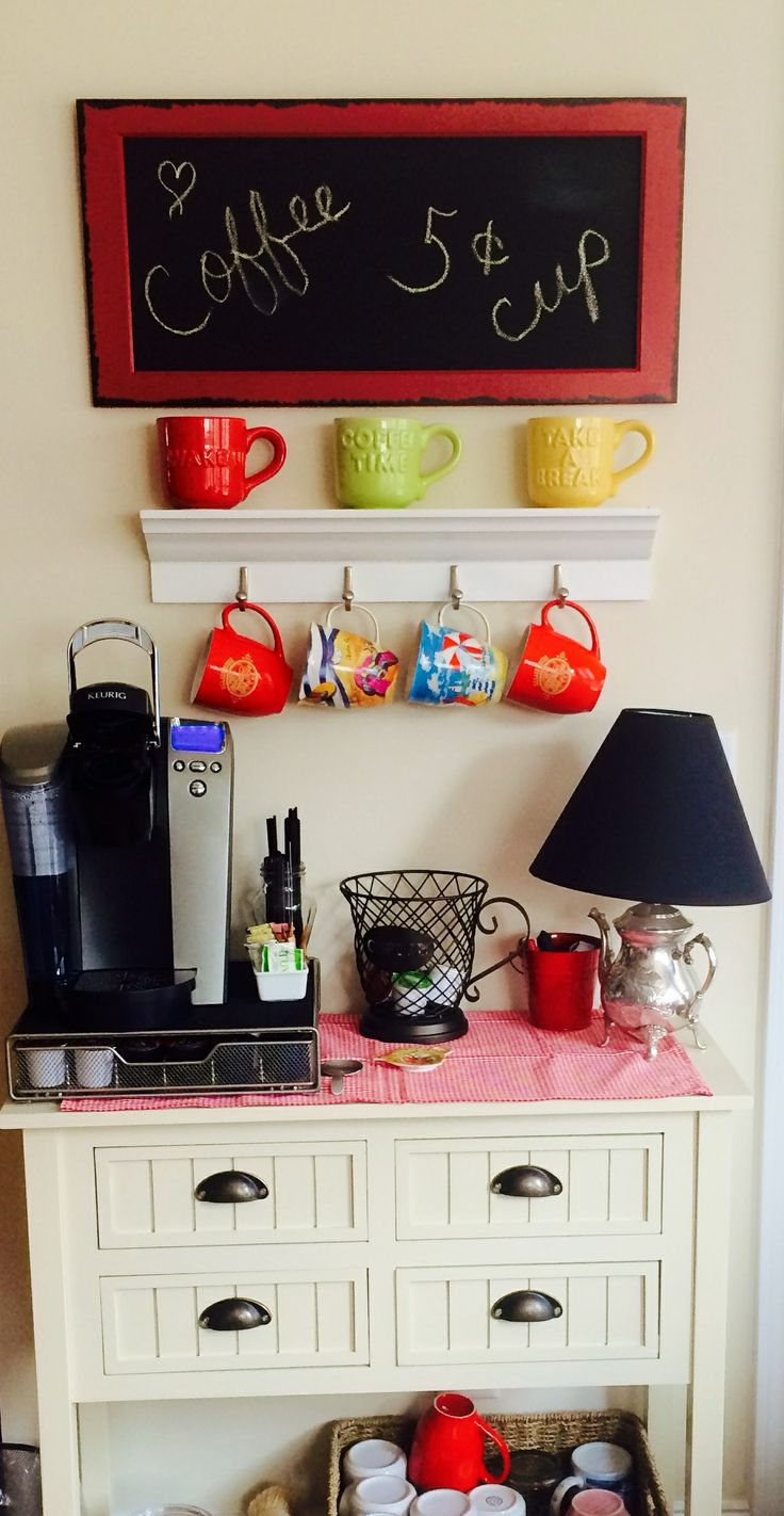 """Nancy G. spreads the #SpiritofHospitality with coffee. """"I love to make my guests feel at home, so I put together a little coffee station in the living room."""" #BiltmoreForYourHome #contest"""