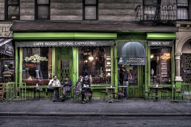 Caffe Reggio, Greenwich Village. Home of the original cappuccino. Cozy and yummy