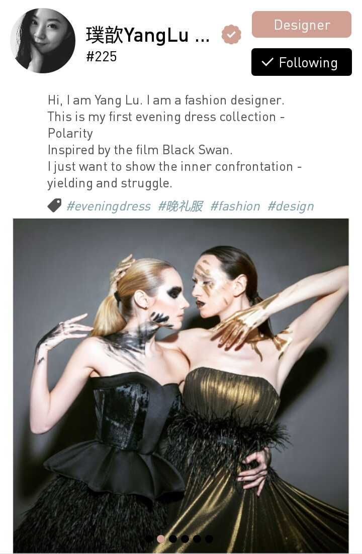 Yang Lu, a fashion designer based in Beijing, China.