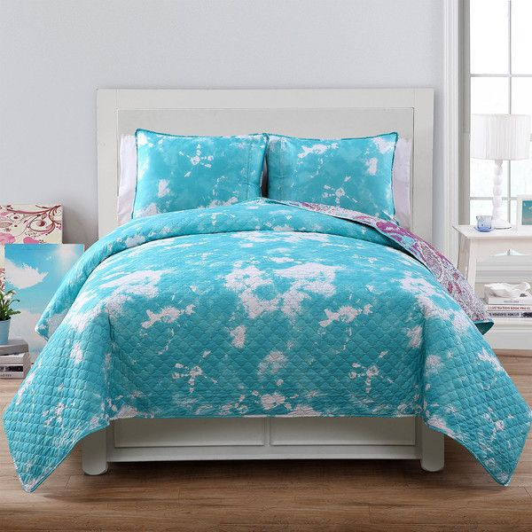 vcny ava reversible quilt set 60 liked on polyvore featuring home bed - Twin Bed Sheets