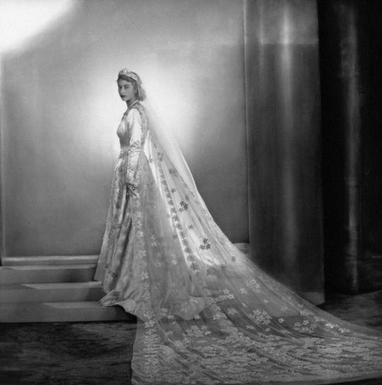 Princess Elizabeth ( now Her Majesty ) on her wedding day