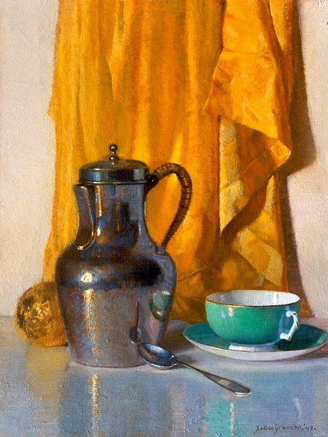Jacob Dooijewaard    Still Life with Jug and Green Cup    1947