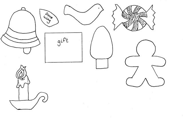 ornament templates - another printable on the website has ice skates, stockings and other shapes, too.