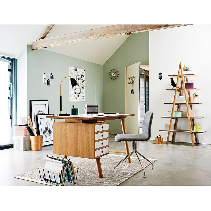 W H Y  W O O D  desk by Venessa Eilert. Soild oak, oak vener and HPL Top. Part of the Why wood range. Designed when working at Says Who design Studio.