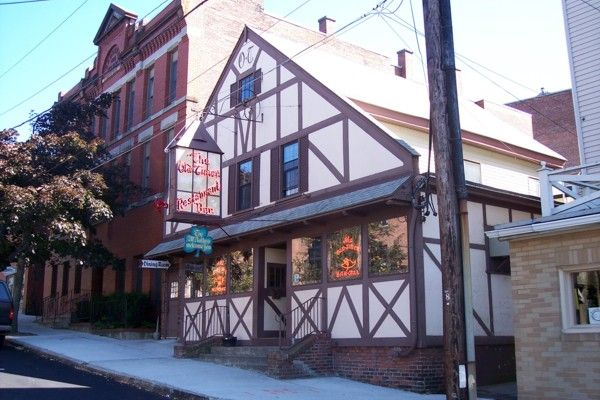 The Old Timer Restaurant in Clinton, MA--a classic decades-old pub that looks a little like a church or an old bank inside.  http://www.hiddenboston.com/OldTimerPhoto.html
