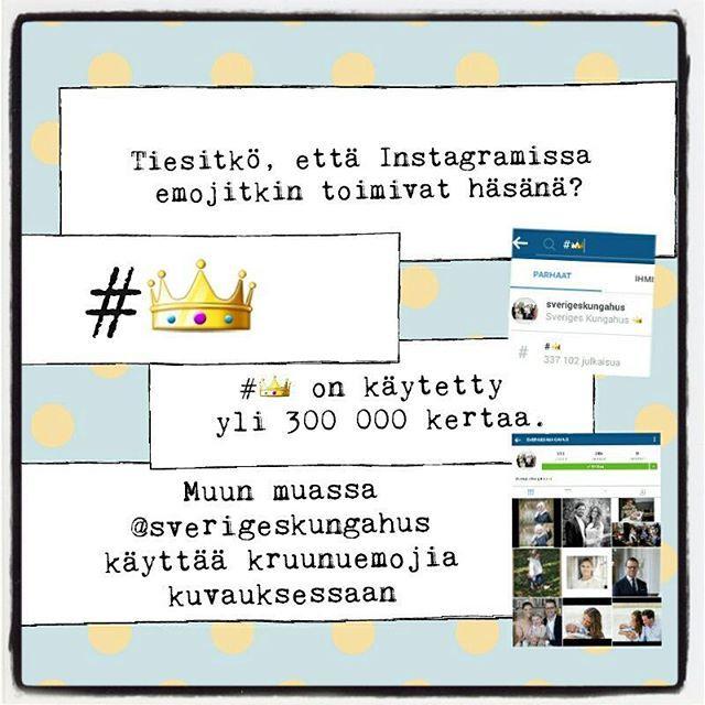 #fmskuvapäivässä aiheena #keltasininen eli #sinikeltainen eli tietysti #ruotsi! Ruotsin #kuninkaalliset hallitsevat someilun, Instassakin he käyttävät hyväkseen # eli #kruunu-emojia. #instagramfi #instagramkoulutus #fms_yellowandblue #emoji #instagramvinkki #somefi #sosiaalinenmedia #fmsphotoaday #socialmediatip #socialmediaadvice #socialmediamarketing #piilotettuaarreonkruunu
