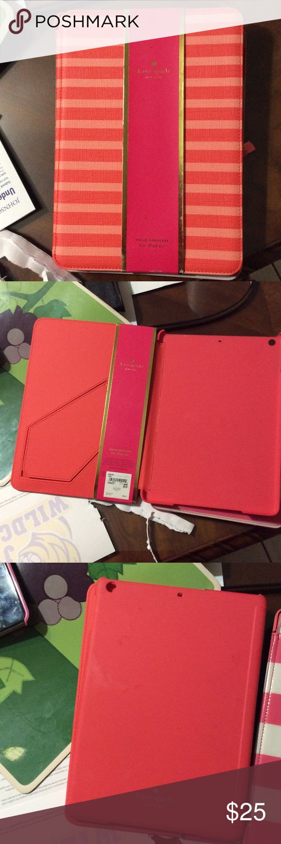 Kate spade I Pad air cases Brand new and the other one is the same condition but without the price tag kate spade Accessories Tablet Cases