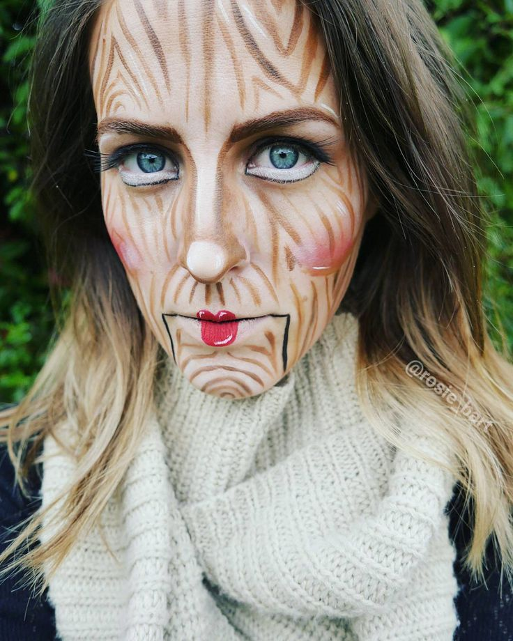 **I had strings but now I'm free; there are no strings on me** (@rosie_bart) on Instagram #puppet #halloween #facepaint #cosplay