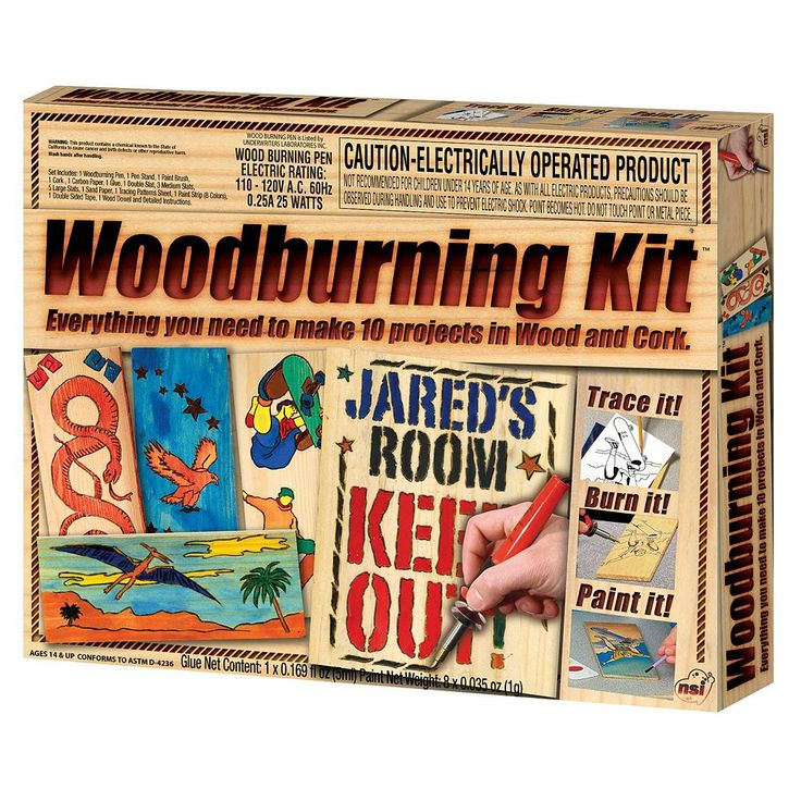 NSI Wood Burning Kit, Multicolor
