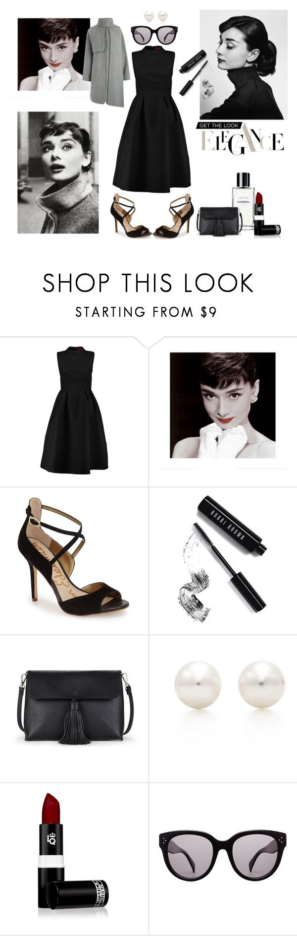 Audrey of elegance by paisleyvelvetandlace on Polyvore featuring Boohoo, Warehouse, Sam Edelman, Sole Society, Tiffany & Co., CÉLINE, Lipstick Queen, Bobbi Brown Cosmetics and Prada