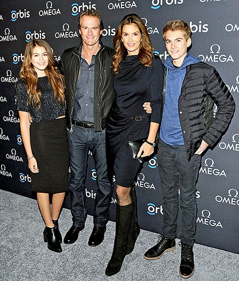 Cindy Crawford made it a Gerber date night on Thursday, Feb. 5, for the screening of Hospital in the Sky in New York City. In tow were the supermodel's entrepreneur husband Rande Gerber, aspiring model daughter Kaia, and her rising photographer son Presley