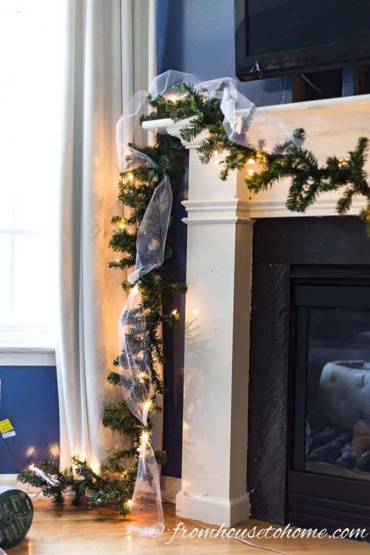 How To Make A Christmas Garland For The Fireplace Mantel