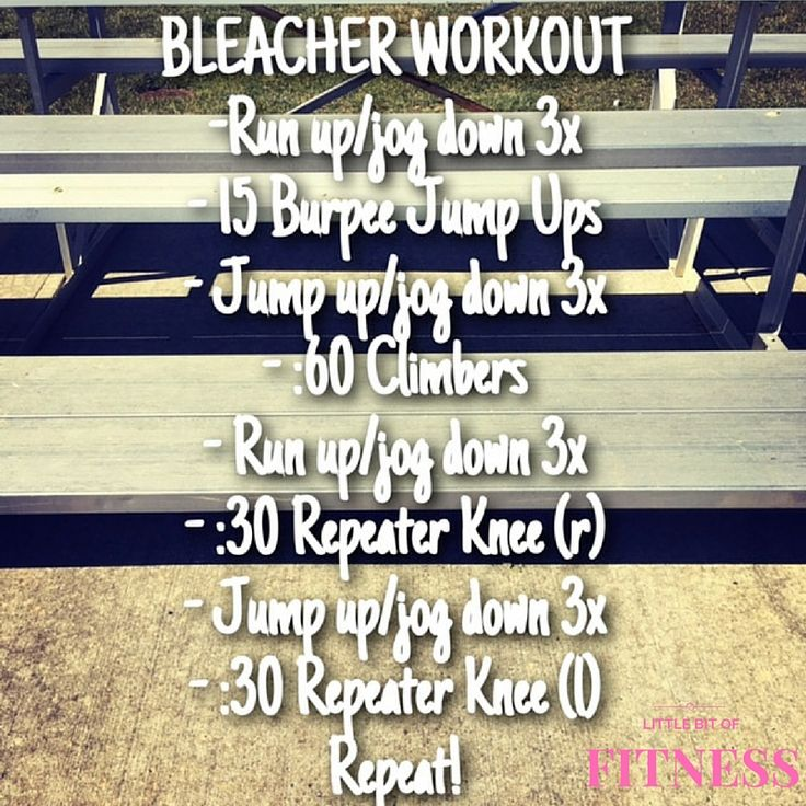 Bleacher Workout