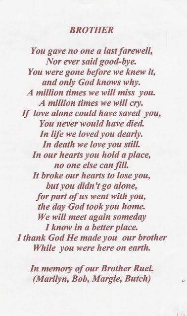 Brother Poem
