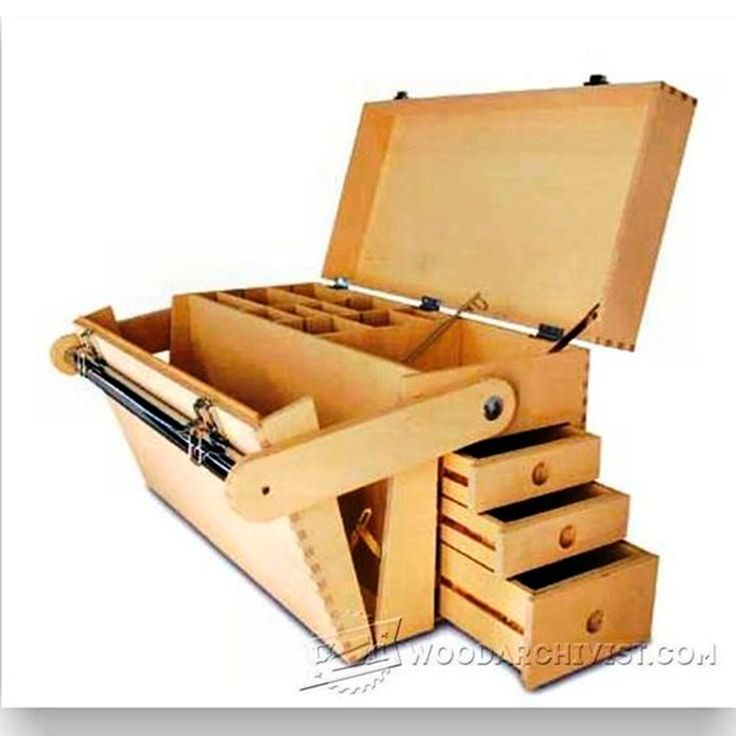 Делаем своими руками, Ящик для инструментов и мелочей. Рисунки и чертежи