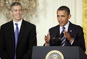 Arne Duncan can keep his cynical NCLB waiver — Washington school board member.  Why, I think Lake Stevens,  Washington just flipped Arne and Obama the bird!