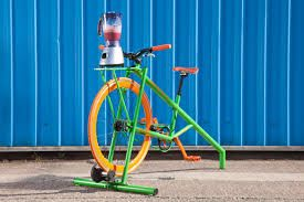 Our new smoothie bike, ready for your entertainment