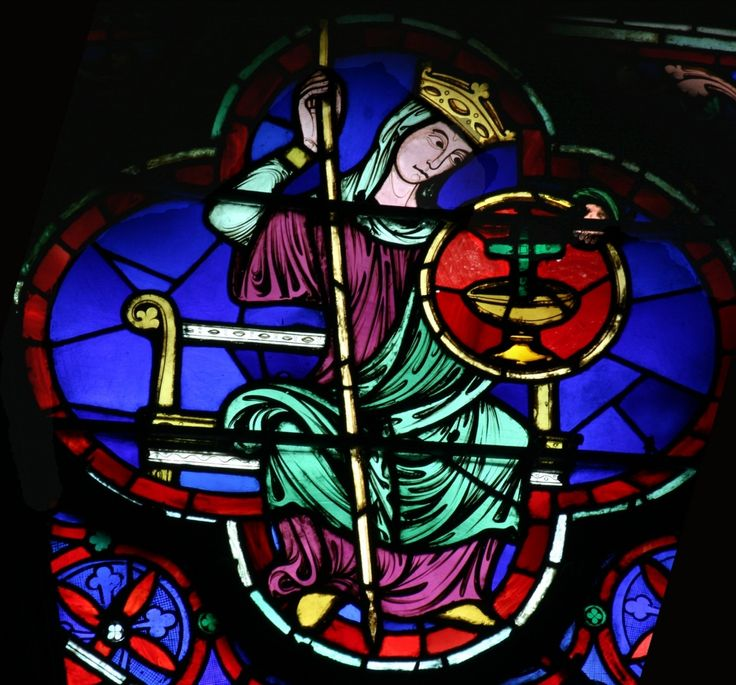 Rosace ouest de la cathédrale Notre Dame de Paris, vitrail de la foi