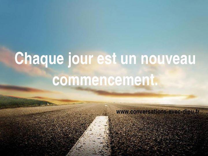 """""""Chaque jour est un nouveau commencement.""""  http://ift.tt/1V9s8wk"""