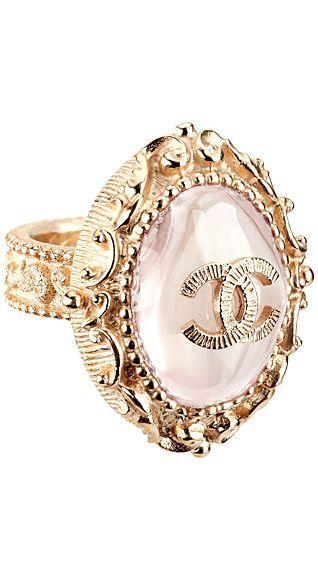 CHANEL pink ring yummy!