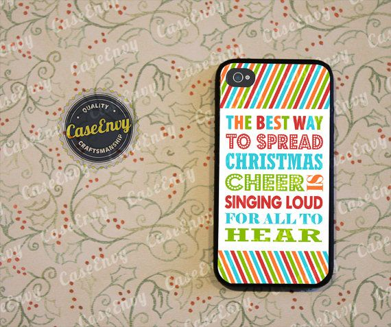 Buddy The Elf Christmas Cheer Quote Phone Case! Choose iPhone 4 / 4s / 5 / 5s or Galaxy S3 / S4 on Etsy, $15.00