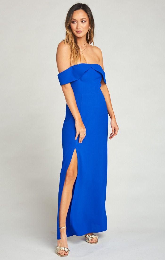 38e364f960 Upton Off Shoulder Maxi Dress ~ Royal Blue Pebble   :: JUST LANDED ...