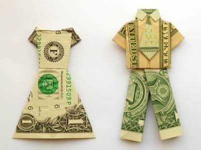 Make this adorable suit or dress origami for a perfectly stylish friend. | 21 Surprisingly Fun Ways To Give Cash As A Gift