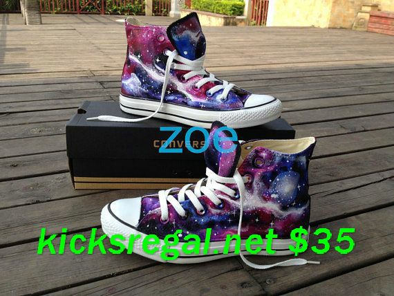 cheap converse all star shoes, i totally had this idea all on my own like 3 days ago. only difference is i said light blue shoes for something blue.-------- Peacock painted on #purple #Converse. I so want these!