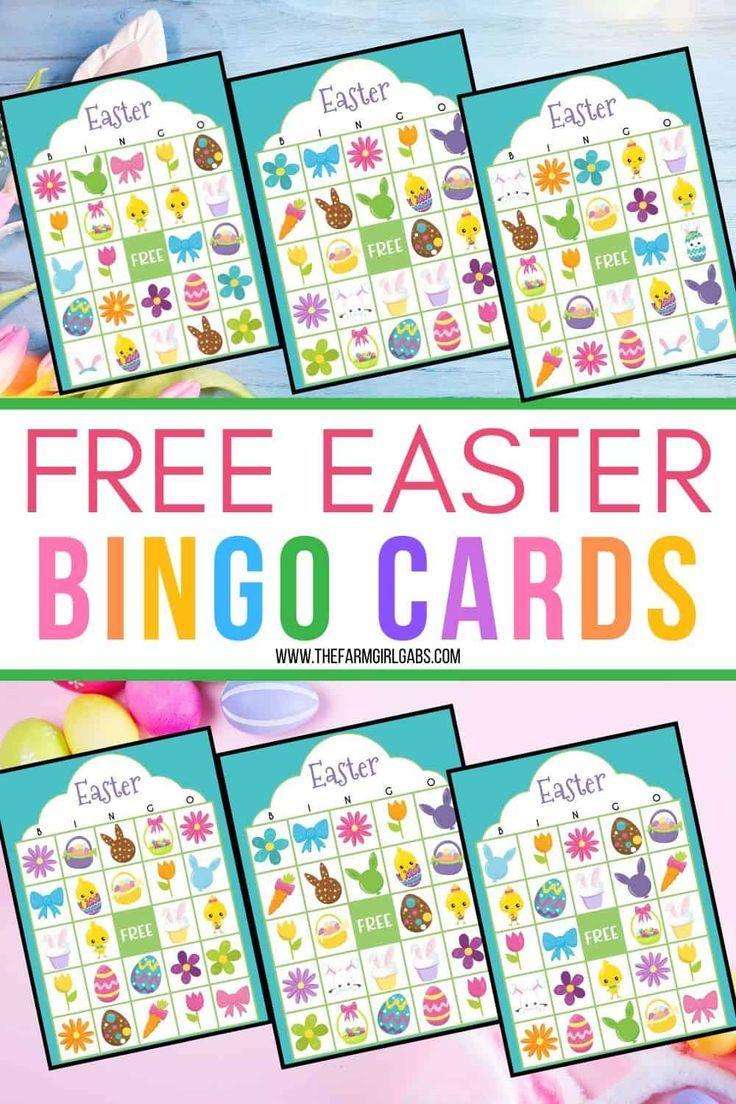 Free Easter Bingo Printable Game Cards In 2020 Easter Bingo