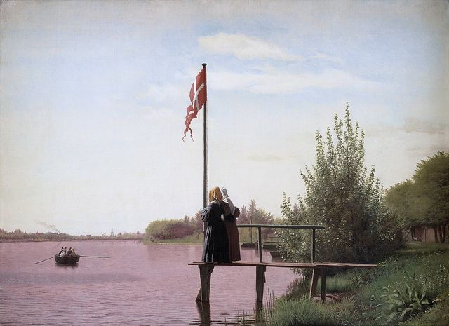 Christen Købke - View from Dosseringen near the Sortedam Lake Looking Towards Nørrebro [1838] | by Gandalf's Gallery