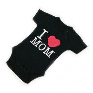 """Body Bebé """"I Love Mom"""" / Baby Body """"I Love Mom""""· Tienda de Decoración y Regalos originales UniversOriginal"""