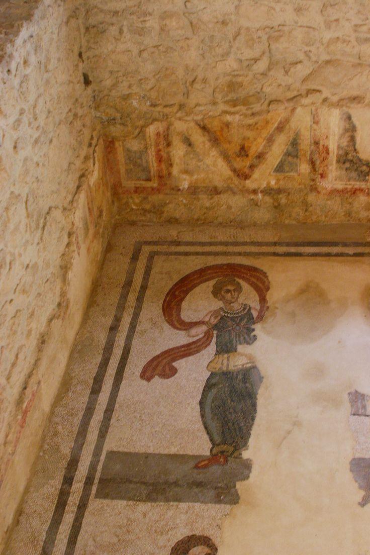 Villa romana del Casale, Piazza Armerina, Sicilia,  I mosaici e gli affreschi del IV secolo.