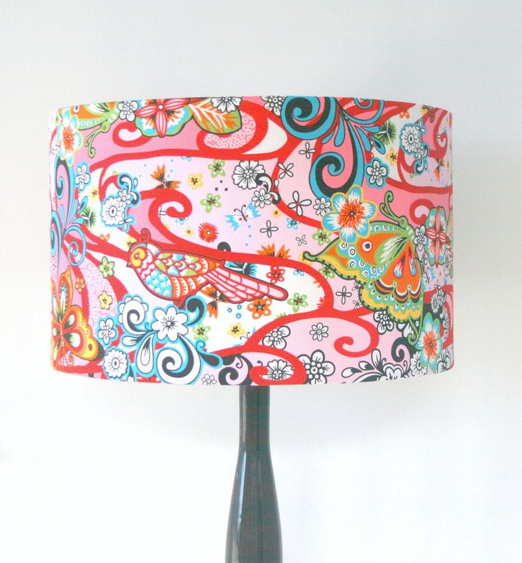 17 Best Images About Fabric Lampshades On Pinterest