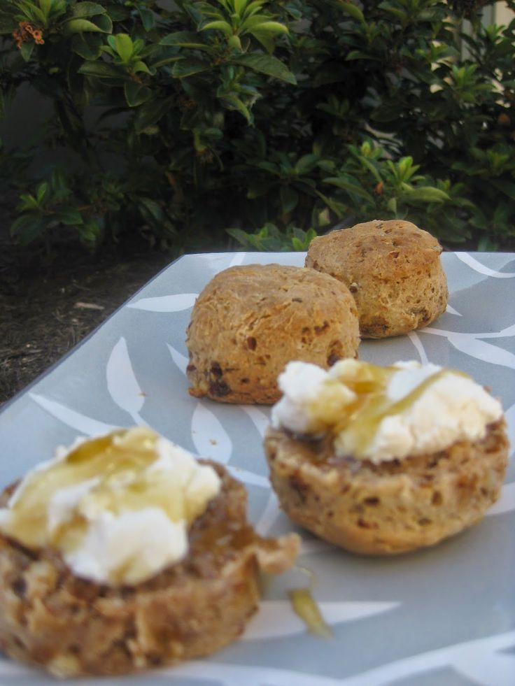 Breakfast Scones with Ricotta and Honey