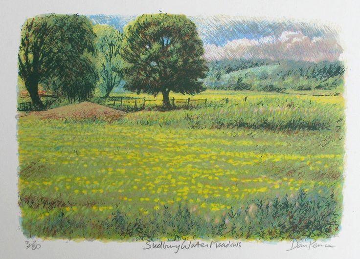 """Sudbury Water Meadows"" screenprint Image size 32x22cms €40"