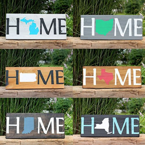 Home State Sign For Wall | Housewarming Gifts For Men | Housewarming Gift Ideas