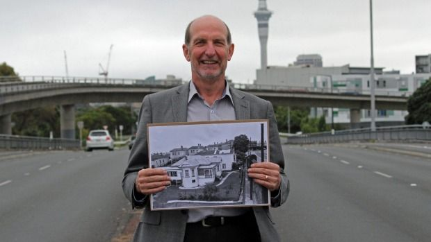 Dozens of houses were removed to build an interchange to a motorway that never materialised.