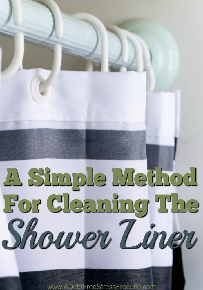 Have you ever stayed over a friend or relatives home only to wake up in the morning to hit the shower and be confronted with an onslaught of mold and mildew on the shower liner? Most people clean their shower liner by removing it and throwing it away.  Bu