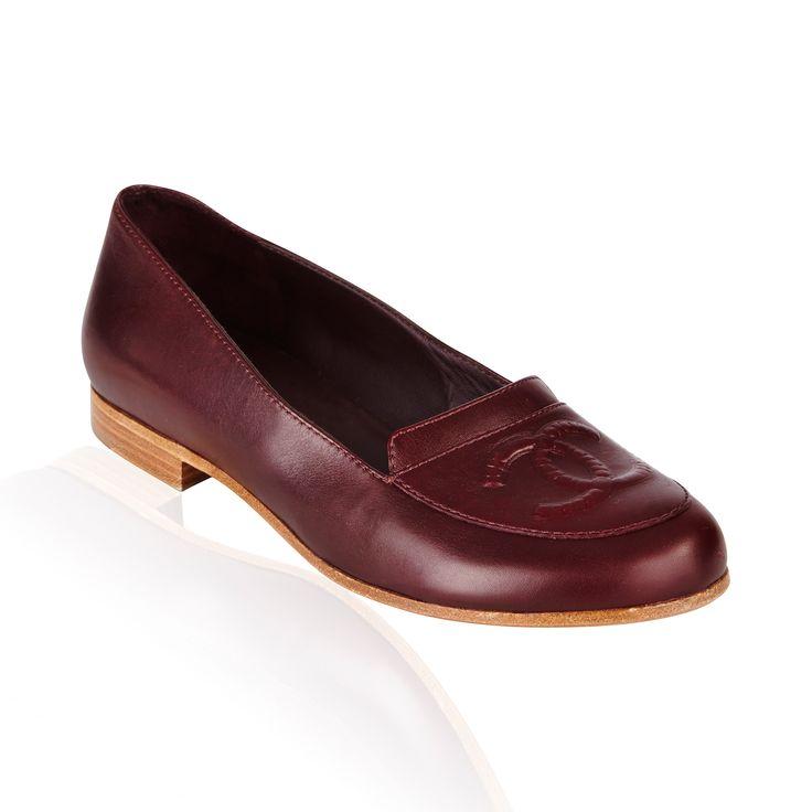 Chanel- Mocassin Loafer Burgandy Leather