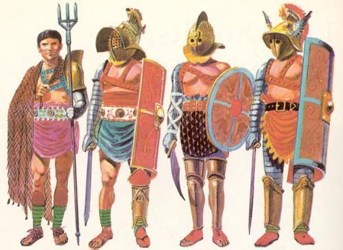 Différentes catégories de gladiateurs