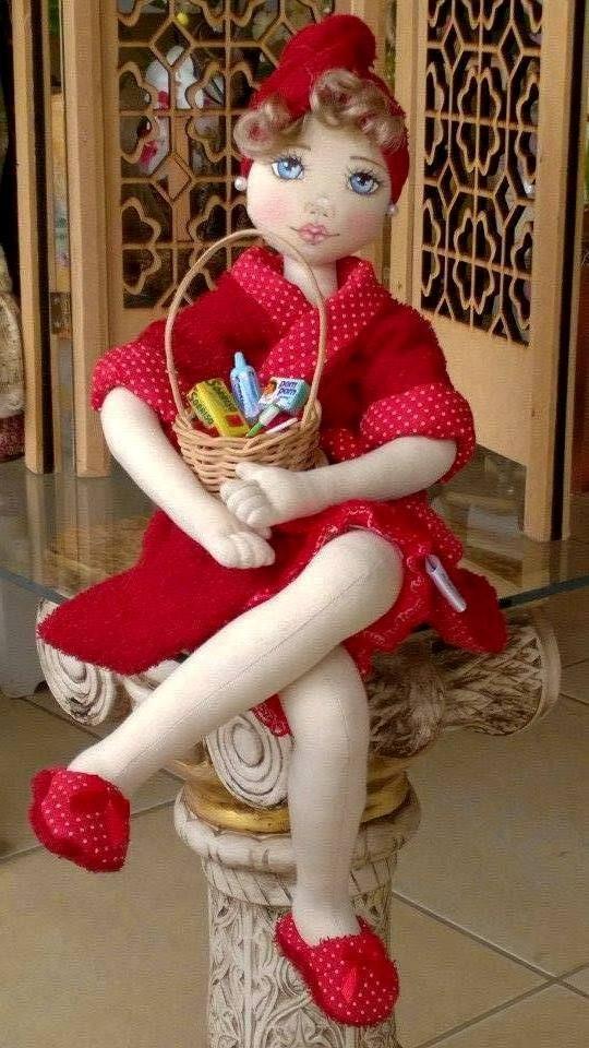Bonecas de pano.  Bonecas porta papel higiênico.  Soraia Flores.