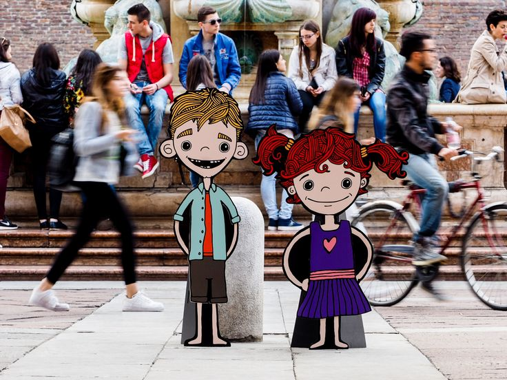 The first day for Mimi & Fergus in Bologna, Italy.  Doing some sight seeing before the Bologna Children's Book Fair.