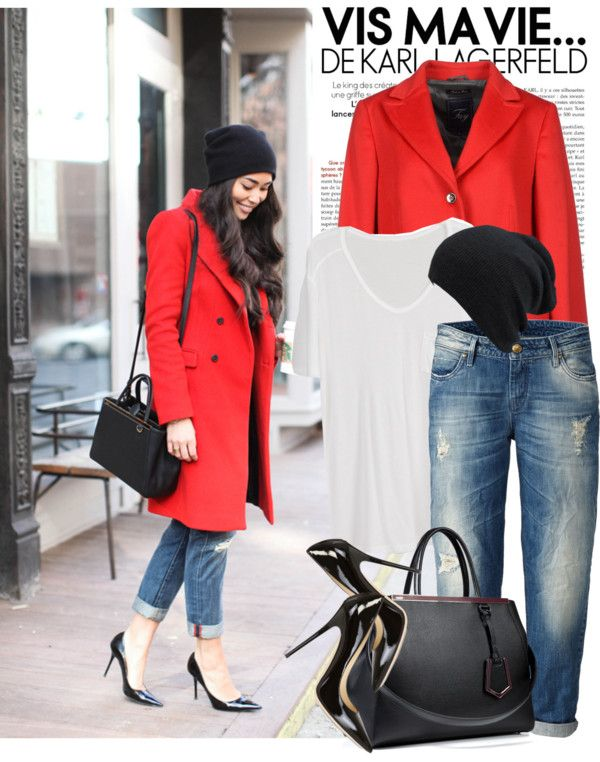"""red coat"" by monmondefou on Polyvore"