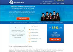 Finestessay.com is a brand new academic writing service with over 2500 professional writers ready to deal with writing assignments. Assisting students from all major English-speaking countries with works of different levels: high-school essays (review, persuasive, argumentative essays, research papers, etc.), college and university papers