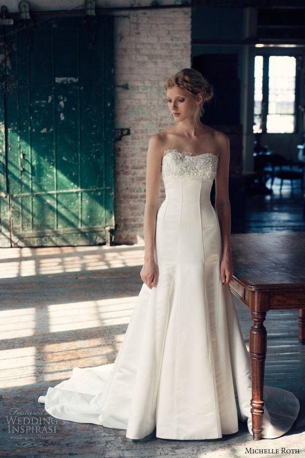 michelle roth wedding dresses 2014 riley strapless gown