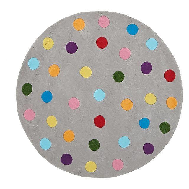 Bright Kids Dots Kids Round Rug $115 120cm