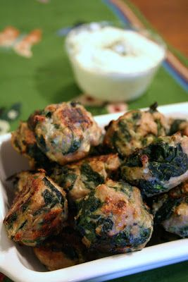 Meal Planning 101: Spanikopita Chicken Meatballs