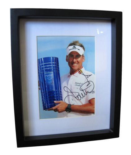 """IAN POULTER Signed 6""""x8"""" Photo Framed - 2011 Volvo World Match Play Championship 